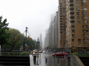 View from Columbus Circle east along CPS