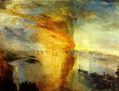 J.M.W. Turner, <em>Burning of the Houses of Parliament</em> (1834)