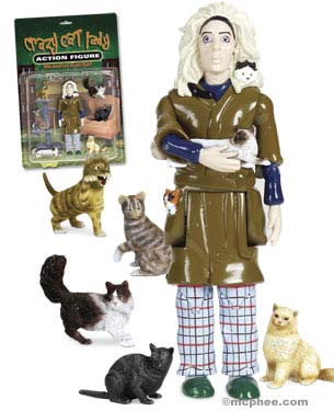 Crazy Cat Lady Action Figure from Archie McPhee