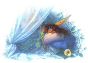 """Tinkerbell Asleep"" ©1991 Scott Gustafson"